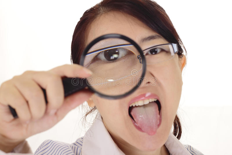 Download Woman With Magnifying Glass Stock Photo - Image: 15553980