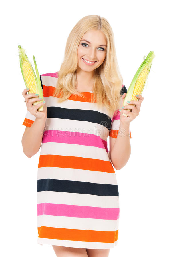 Download Woman With Maize Stock Photo - Image: 39765430