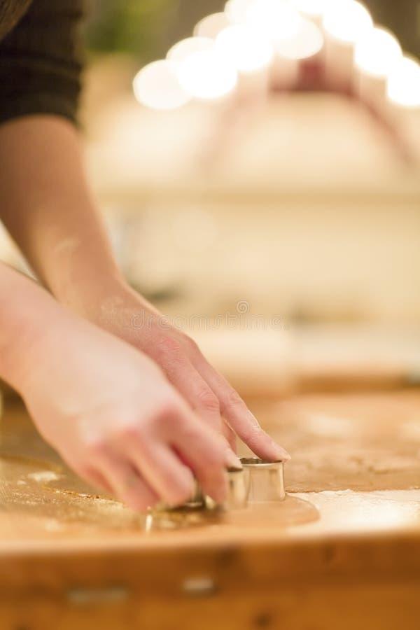 Woman Baking Gingerbread royalty free stock image