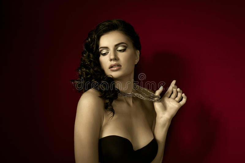 The woman with make up royalty free stock image