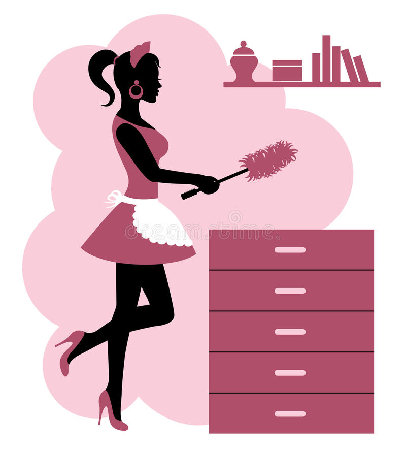 Download Woman makes cleaning stock illustration. Image of girl - 34725166