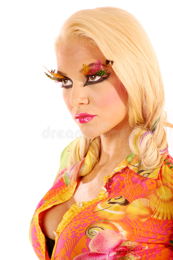 Woman in makeup royalty free stock photos