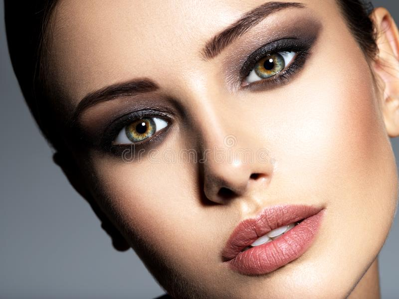 Woman makeup beautiful portrait face fashion royalty free stock photos