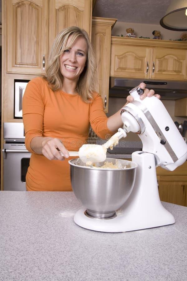 Woman Making Cookies Stock Photos