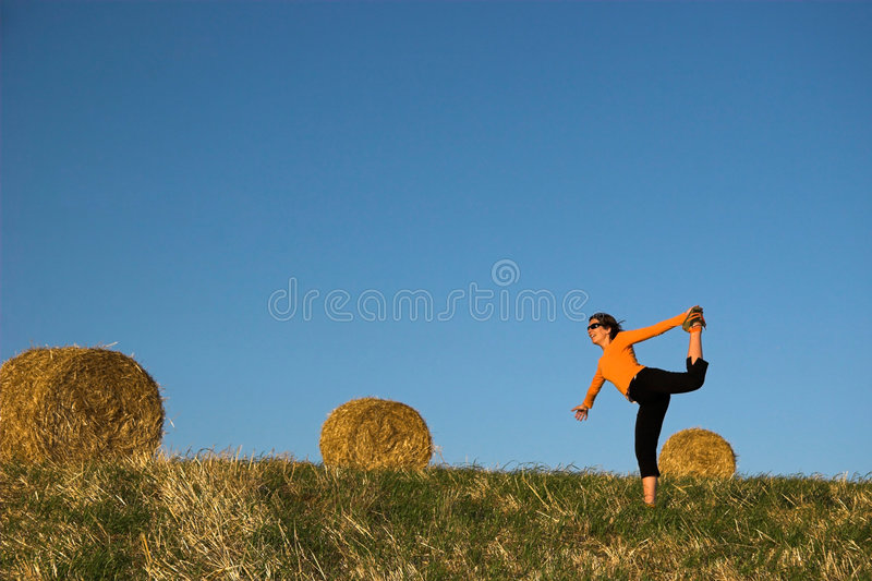 Download Woman making exercise stock photo. Image of girls, girl - 1414102