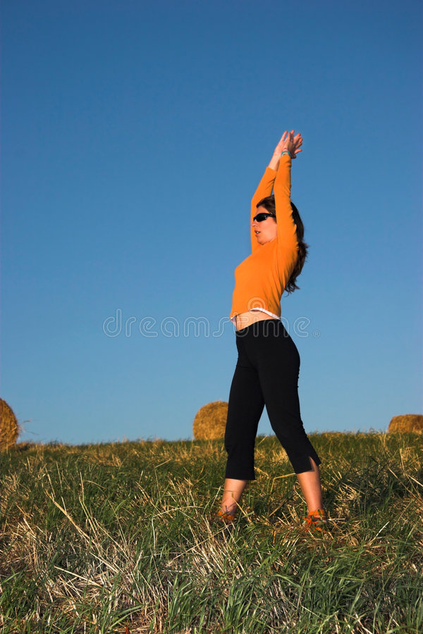 Download Woman making exercise stock image. Image of person, fall - 1414153