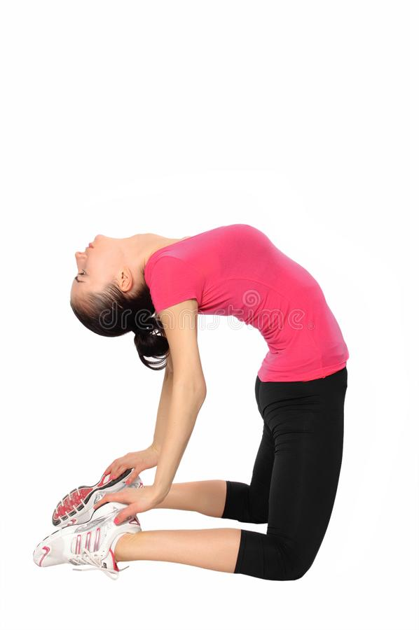 Woman making exercises royalty free stock image