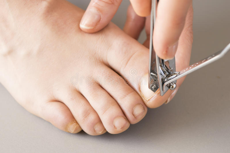 Download Woman Making Herself A Pedicure Stock Images - Image: 30681054