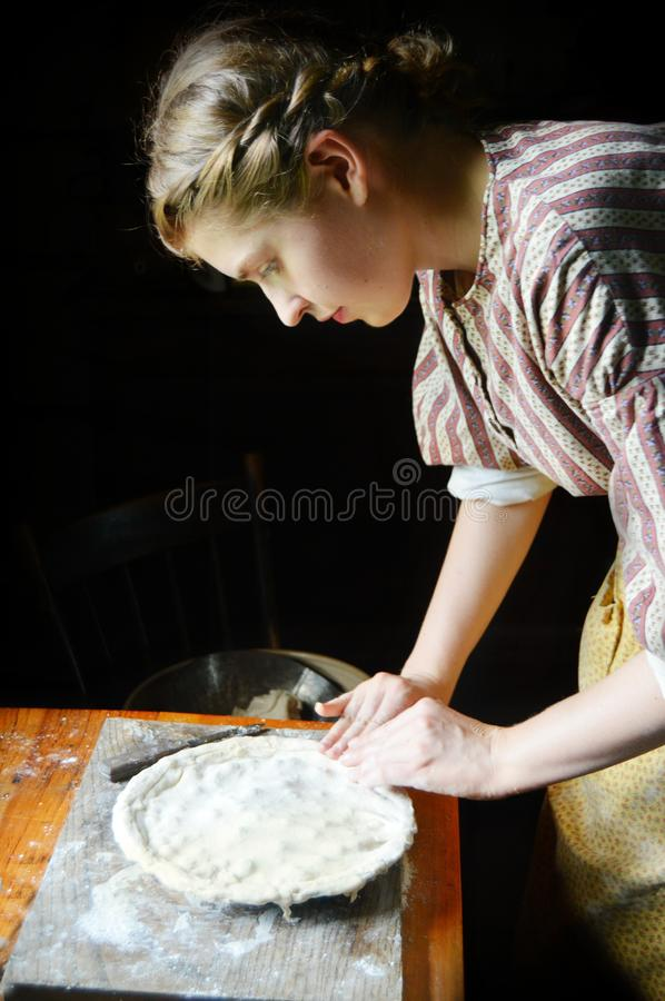Free Woman Making Homemade Pie For Dessert Stock Photography - 168057972