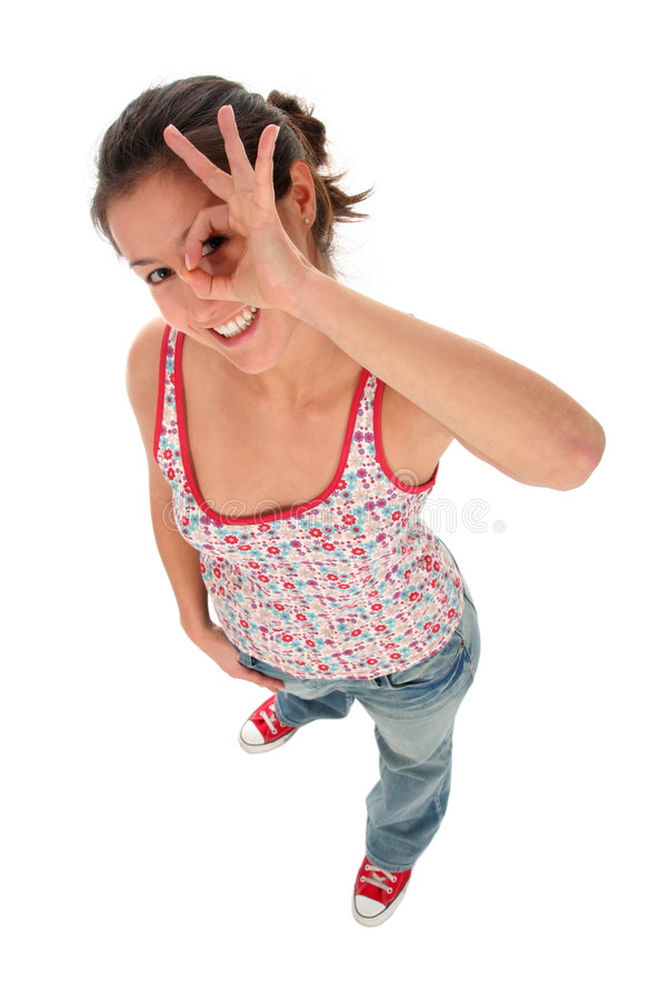 Free Woman Making OK Sign Stock Images - 3847824