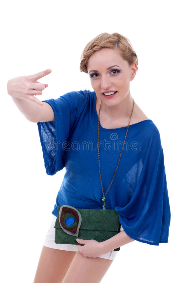 Download Woman Making A Rock And Roll Gesture Stock Photos - Image: 18873433