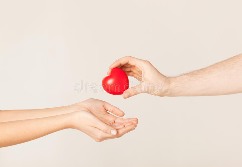 Download Woman And Man Hands With Heart Stock Photo - Image: 32103478