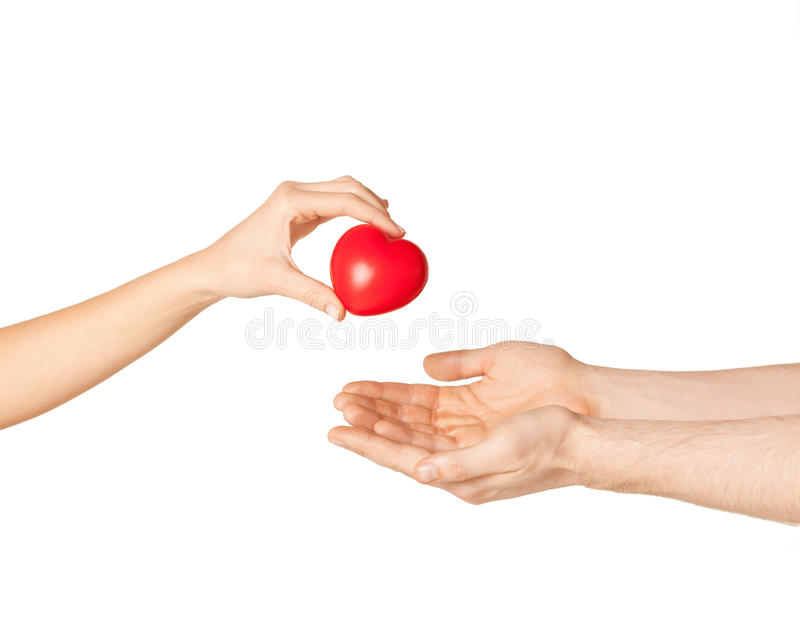 Download Woman And Man Hands With Heart Stock Photo - Image of closeup, care: 32103462