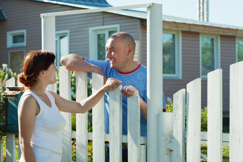 Download Woman And Man Near Fence Wicket Royalty Free Stock Photo - Image: 19945305