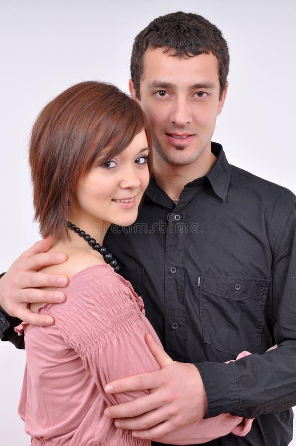 Woman and man posing stock photos
