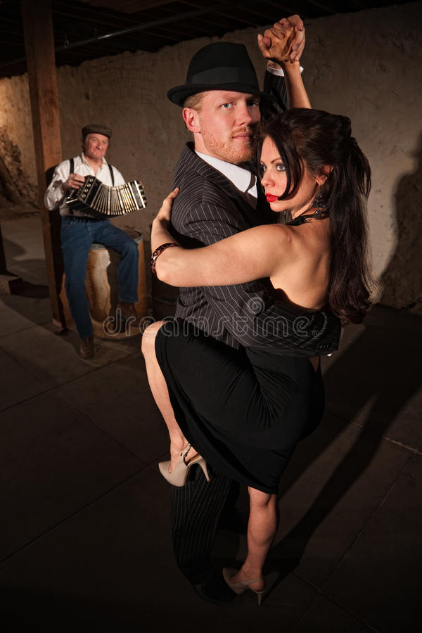 Woman and Man in Tango Dance royalty free stock photography