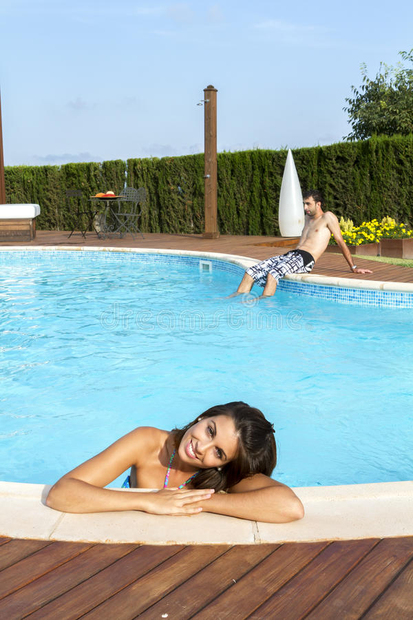 Download Woman and man stock photo. Image of enjoyment, summer - 32892672