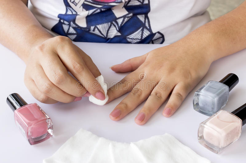 Woman manicures royalty free stock images