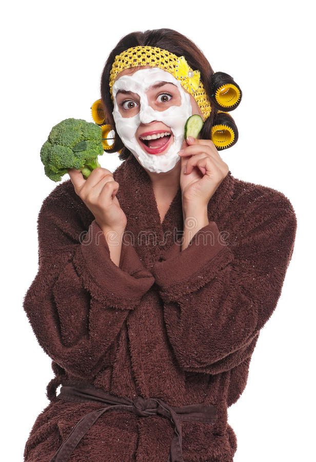 Download Woman with a mask stock image. Image of hair, female - 26925293