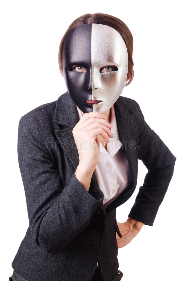 Download Woman with mask stock image. Image of briefcase, hypocrisy - 29670633