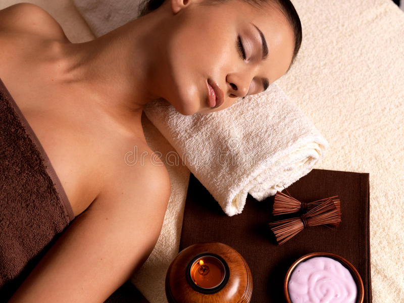 Download Woman After Massage In Spa Salon Stock Image - Image: 27705683