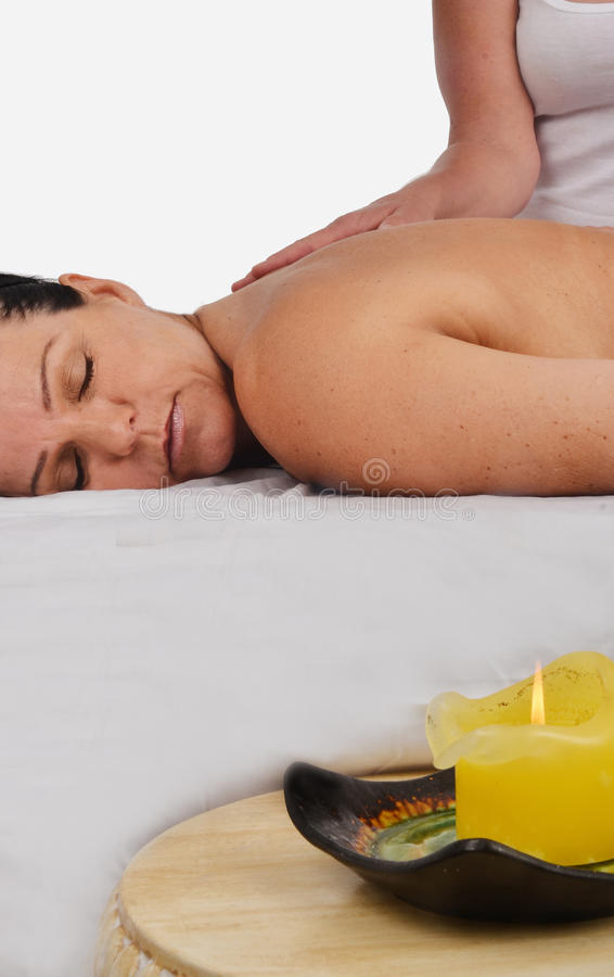 Download Woman on Massage Table stock photo. Image of holistic - 25377534
