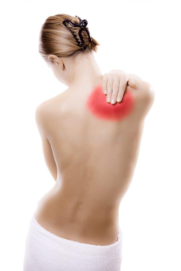 Free Woman Massaging Pain Back Royalty Free Stock Photo - 16450955