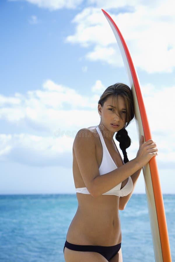 Woman on Maui beach. stock photography