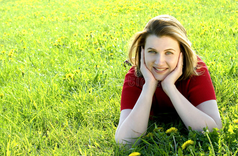 Download Woman on meadow stock image. Image of attractive, human - 10141371