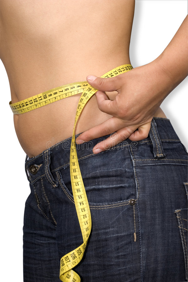 Download Woman measure her waist stock image. Image of body, health - 5914003