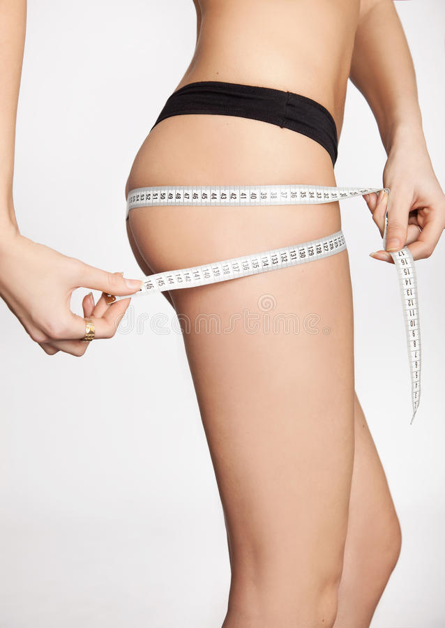 Download Woman Measuring Stock Image - Image: 18658051