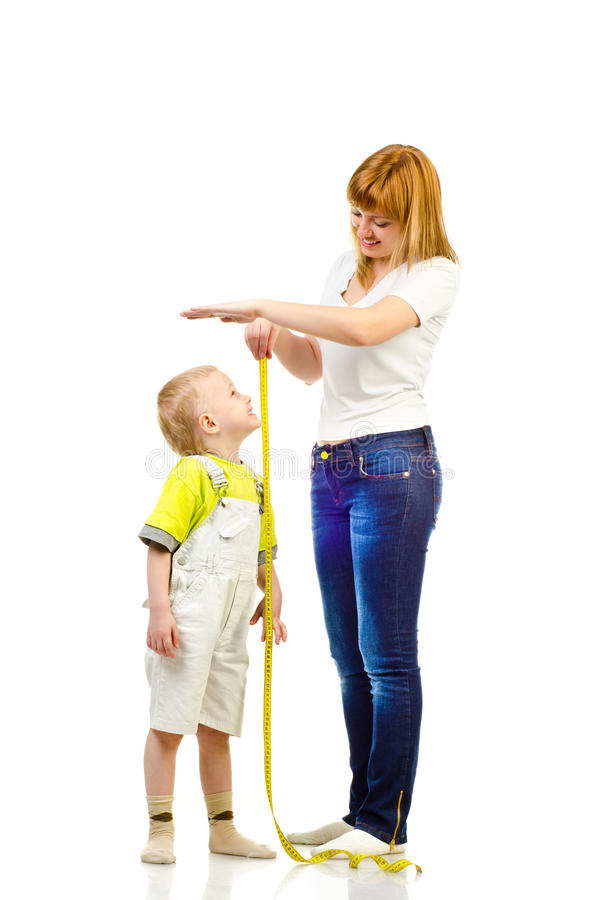 Download Woman measuring child stock image. Image of measure, growing - 35149983