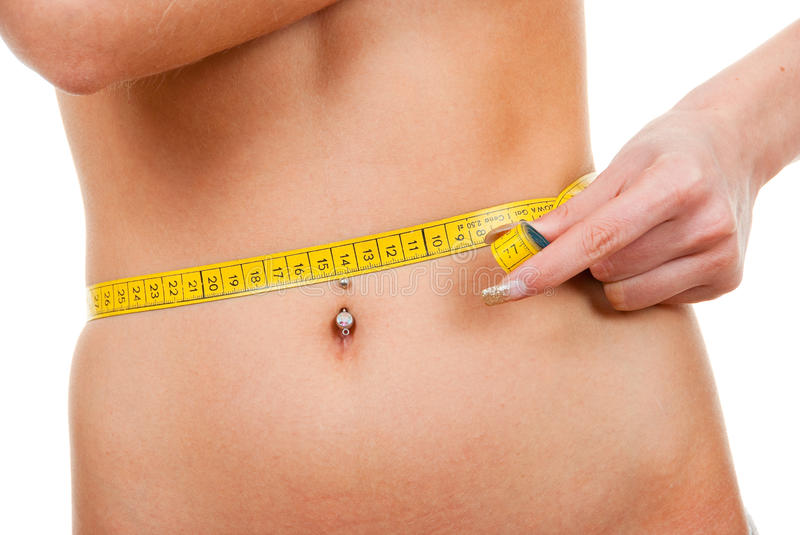 Download Woman measuring  her waist stock image. Image of beautiful - 10813507