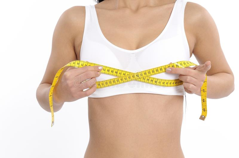 Download Woman measuring her waist stock image. Image of girl - 28664933
