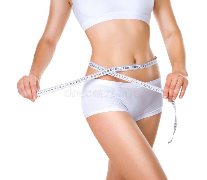Download Woman Measuring Her Waistline. Diet Stock Photo - Image of health, measure: 25269118
