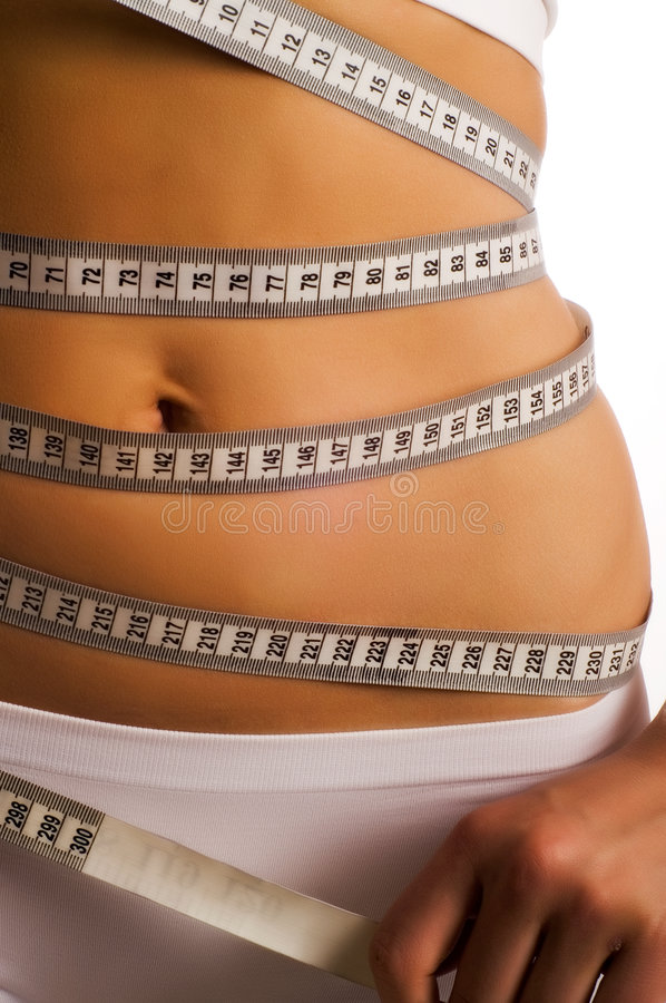 Woman Measuring Perfect Shape Royalty Free Stock Photos
