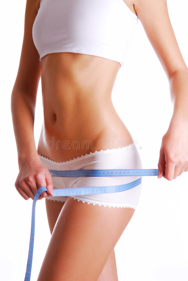 Download Woman Measuring Perfect Shape Of Beautiful Thigh. Stock Image - Image: 7542511
