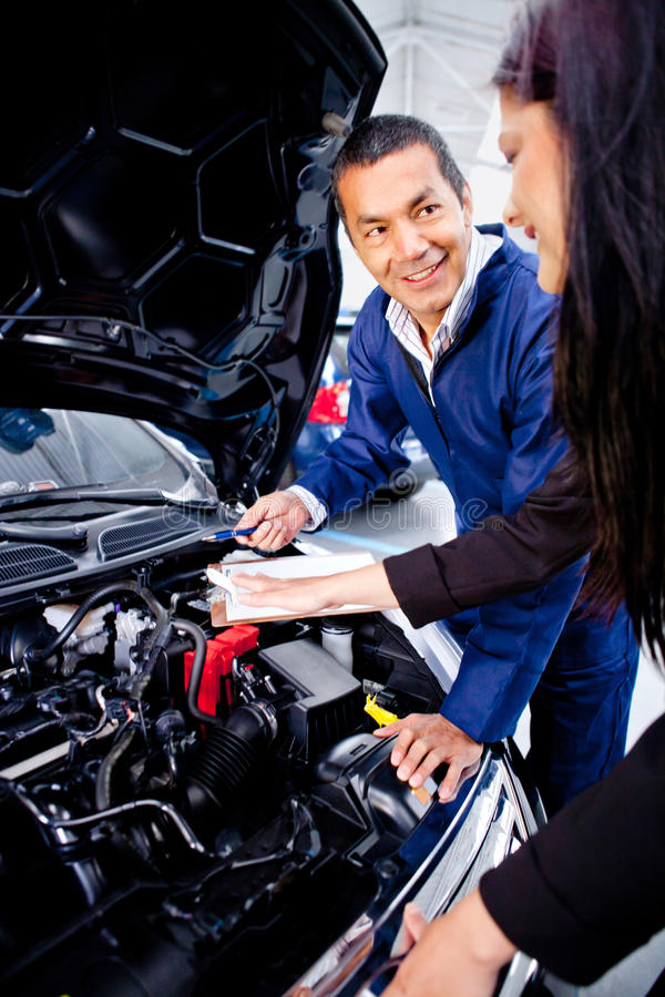 Download Woman at the mechanic stock photo. Image of female, occupation - 23845942