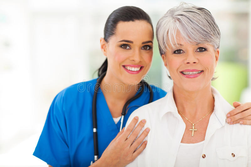 Woman medical nurse royalty free stock photography
