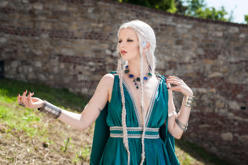 Woman In Medieval Times stock image