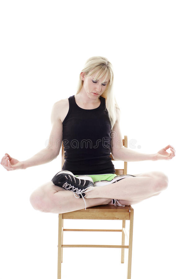 Download Woman Meditating Royalty Free Stock Image - Image: 11451926