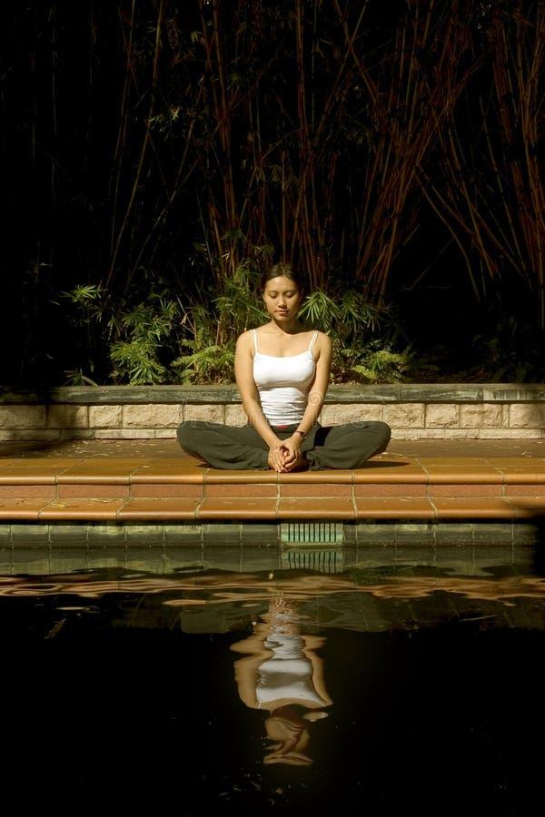 Download Woman meditating stock image. Image of activity, girls - 156855