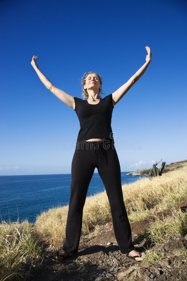 Download Woman meditating. stock image. Image of meditation, calm - 3418897