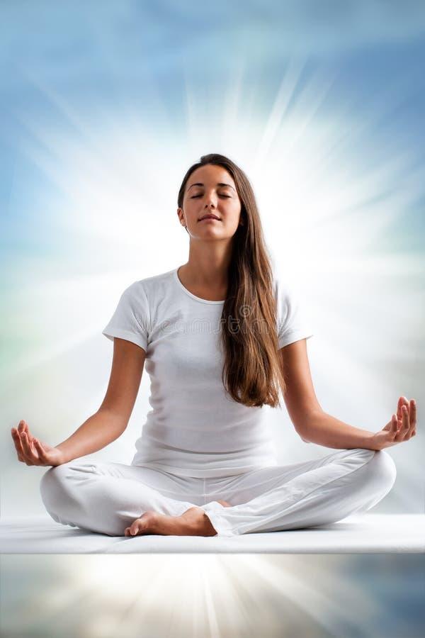 Free Woman Meditating. Royalty Free Stock Photos - 56030328