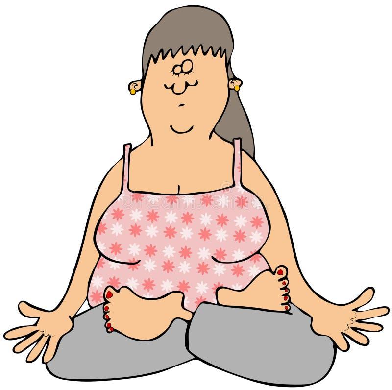 Download Woman meditating stock illustration. Illustration of woman - 32181024