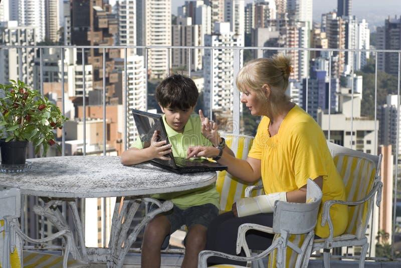 Download Woman Mentoring Boy - Horizontal Stock Image - Image: 5849567