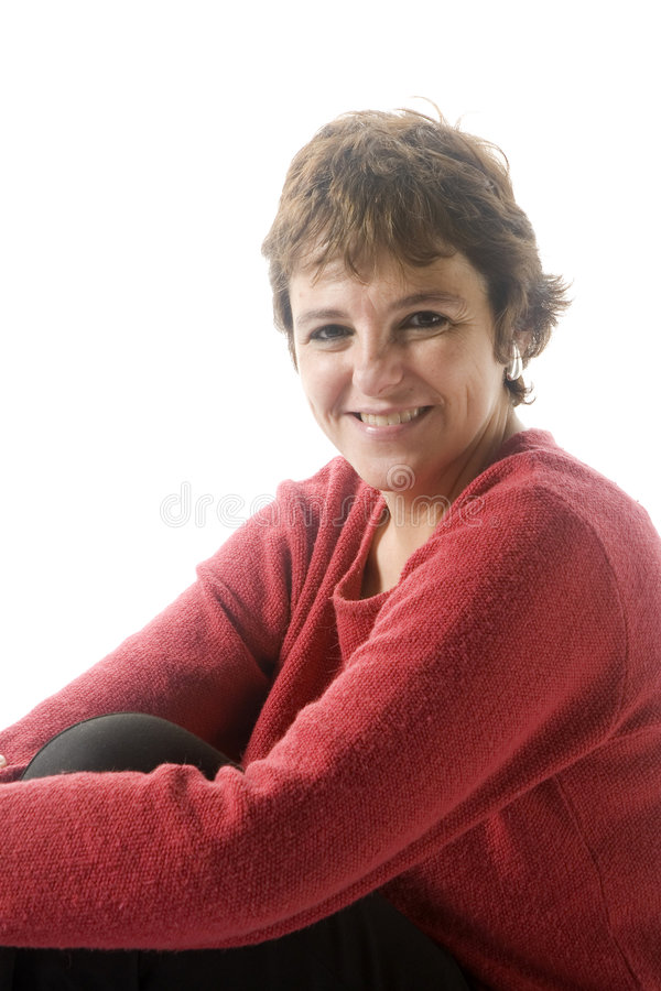 Woman in mid 40s royalty free stock image