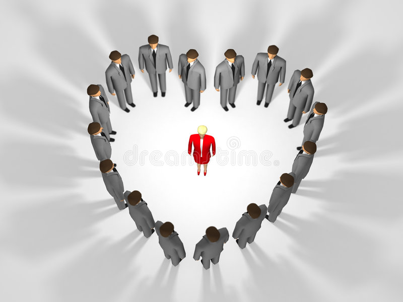 Download Woman In Middle Of Love Heart Stock Illustration - Image: 8056723
