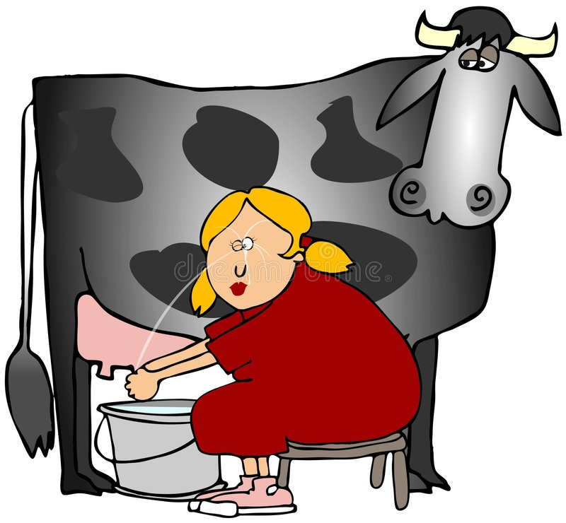 Download Woman Milking A Cow Royalty Free Stock Photography - Image: 9229167