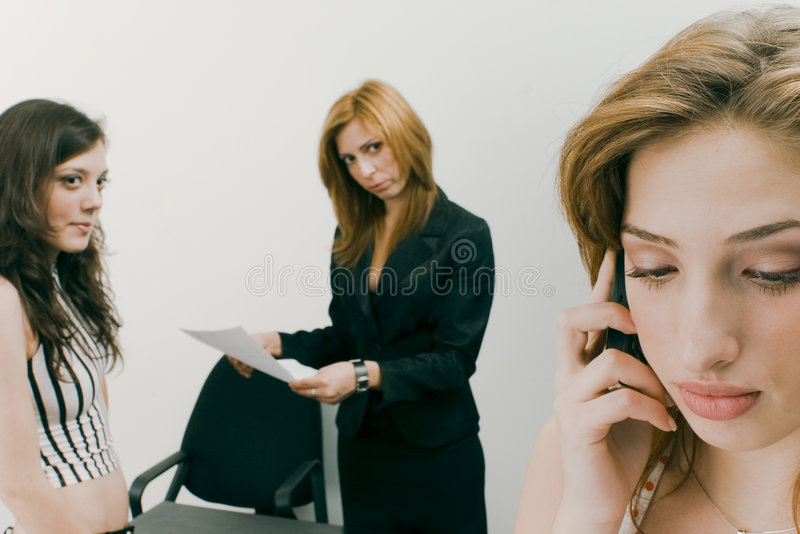 Woman on Mobile Phone royalty free stock photography